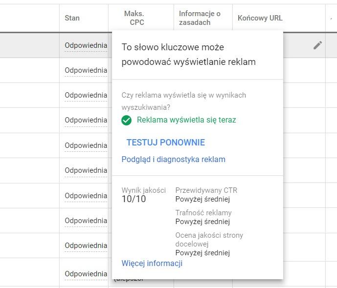 Jak sprawdzić wynik jakości google